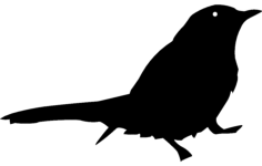 bird silhouette Free Gcode .TAP File for CNC