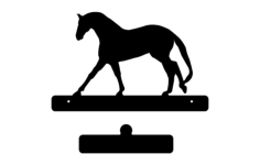 horse with plate Free Gcode .TAP File for CNC