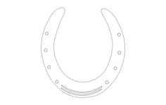 horse shoe Free Gcode .TAP File for CNC