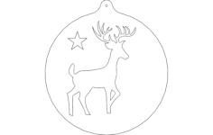 deer orn Free Gcode .TAP File for CNC