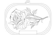 rose Free Gcode .TAP File for CNC