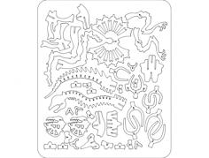dilophosaurus 3d puzzle Free Gcode .TAP File for CNC