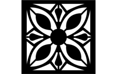 floral grille pattern Free Gcode .TAP File for CNC