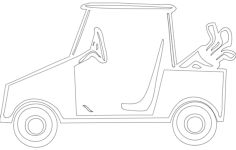 golf cart Free Gcode .TAP File for CNC