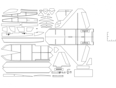 f-22 3d puzzle Free Gcode .TAP File for CNC