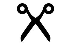 scissor silhouette Free Gcode .TAP File for CNC