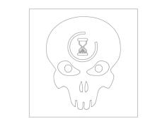 halo-3-lag-skull Free Gcode .TAP File for CNC