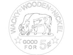 boi na moeda Free Gcode .TAP File for CNC
