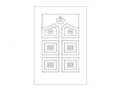 modern door design Free Gcode .TAP File for CNC