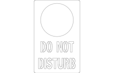 do not disturb Free Gcode .TAP File for CNC