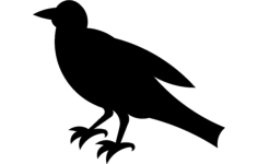 crow silhouette Free Gcode .TAP File for CNC