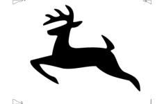 deer jumping Free Gcode .TAP File for CNC