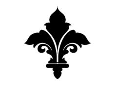 fleur de lys Free Gcode .TAP File for CNC