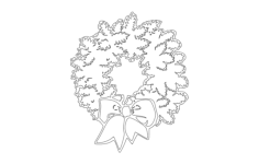 xmas wreath Free Gcode .TAP File for CNC