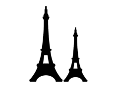 eiffel tower Free Gcode .TAP File for CNC