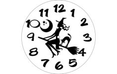 horloge sorciere Free Gcode .TAP File for CNC