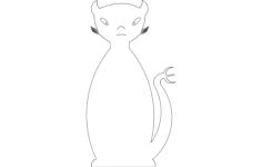 cat devil Free Gcode .TAP File for CNC