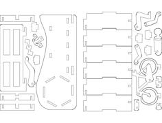 porta-caneta bicicleta Free Gcode .TAP File for CNC
