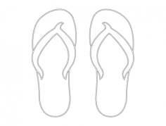 flip flops plain Free Gcode .TAP File for CNC