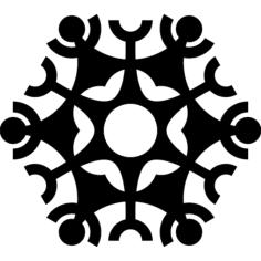 snowflake design Free Gcode .TAP File for CNC