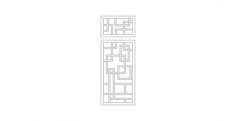 bath-door Free Dxf File for CNC