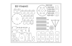 3d windmill Free Dxf File for CNC