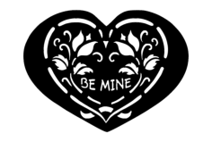 be mine Free Dxf File for CNC