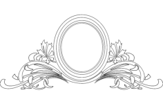mirror frame floral Free Dxf File for CNC