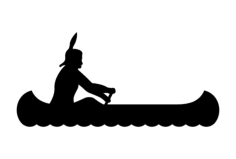 indian canoe Free Dxf File for CNC