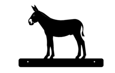 donkey with plate Free Dxf File for CNC