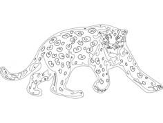 animal mascots lion Free Dxf File for CNC