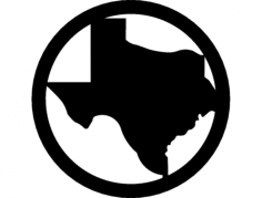 texas Free Dxf File for CNC