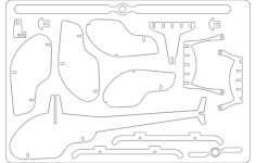 helicopter Free Dxf File for CNC