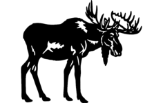 bull moose Free Dxf File for CNC