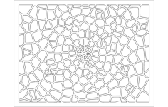 voronoi pattern 2 Free Dxf File for CNC