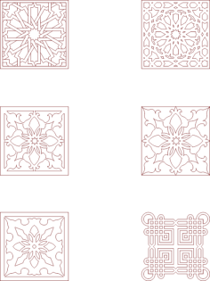 moroccan pattern vector art Free Dxf File for CNC