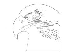 eagle head (1) Free Dxf File for CNC