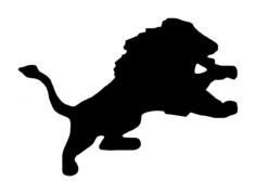 detroit lion Free Dxf File for CNC