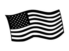 flag us Free Dxf File for CNC
