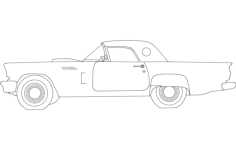 57t-bird Free Dxf File for CNC