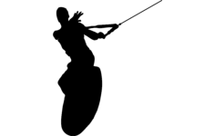 wake surfing silhouette Free Dxf File for CNC