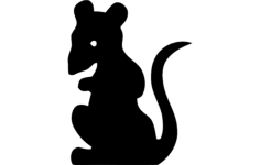 rat standing silhouette Free Dxf File for CNC