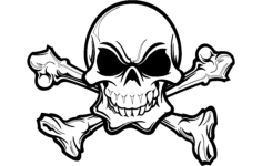 skull silhouette details Free Dxf File for CNC