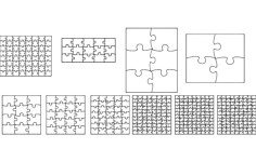 jig saw puzzles Free Dxf File for CNC