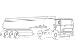 oil tanker Free Dxf File for CNC