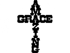 amazing grace Free Dxf File for CNC