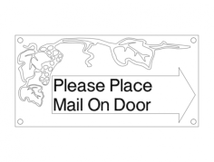 mail sign Free Dxf File for CNC
