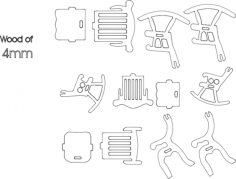 3 chairs Free Dxf File for CNC