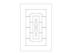 door pattern elegant Free Dxf File for CNC