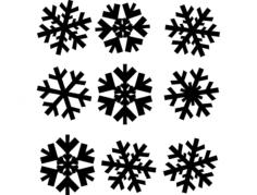 snowflakes snezhinki Free Dxf File for CNC